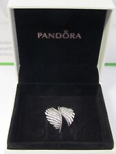 Authentic Pandora Majestic Feathers Clear CZ Ring - Size 5.5  - NICE! FAST SHIP!