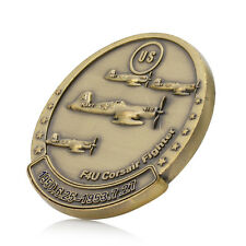 Gold Plated Korean War F4U Corsair Fighter Military Challenge Commemorative Coin