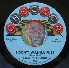 HEAR Sugar Pie DeSanto 45 I Don't Wanna Fuss/Love You So EX northern soul R&B