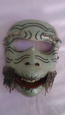 Old Vintage Wooden Antique Rare Monkey Ape Mask Decoration Wall Ornament