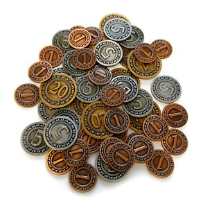 Generic metal coins for board games - 50 pcs