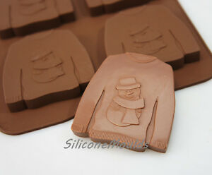 Ugly Christmas Jumper Chocolate Candy Silicone Bakeware Mould Cookie Soap Wax