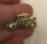 Vintage Black And Gold Old Car Pinback Lapel Pin