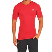 Umbro Mens Compression Baselayer Top, Red, XL , BNWT