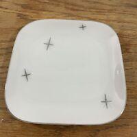 "Fukagawa Arita Star Cross Porcelain Retro Atomic Japan Bread & Butter Plate 6"""