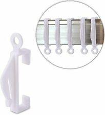 Curtain Rail Track Gliders Pack of 25, 50, 75, 100 White Plastic Sliding Hooks
