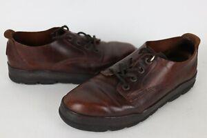 Vintage Reebok BOKS Men's Size 11 Brown All Leather Work/Casual Sneaker Shoes