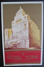 CANADA TORONTO 1920-30S CPR Postcard - THE ROYAL YORK HOTEL
