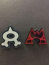 Pokemon Double Crisis Team Magma & Team Aqua Collector PIN - NEW