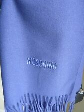 BNWT Moschino Lilac Long Scarf. 100% Merino Extrafine Wool. Gift Idea!