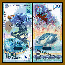 Russia 100 Rubles, 2014 P-274 Prefix-Aa Replacement  Comme Sochi Olympic Unc