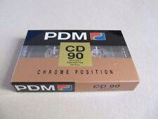 Audio Cassetta pdm cd 90 Type 2 High Position Chrome Nuova Vergine Sigillata