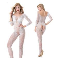 Women's Sexy Crotchless Open Fishnet Body Stocking Body Suit Lingerie Nightwear
