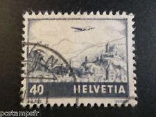 SUISSE 1941, timbre aérien n° 28, AVION, oblitéré