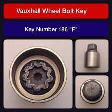 "Genuine Vauxhall Locking Wheel Bolt / Nut Key 186 ""F"""