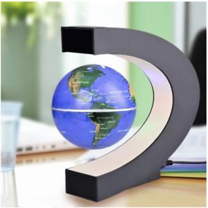 LED World Map Magnetic Levitation Floating Globe Electronic Antigravity Decor