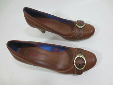 S.Oliver Buckle Court Shoes 39 Faux Leather Brown Tip Top /12