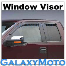 Ford F150 Extended Super Cab Smoke Tint 4pc set Window Vent Visor Rain Sun Guard