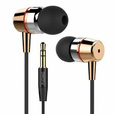 Leuchtbox In-Ear-Kopfhörer & In-Ear Stereo Ohrhörer - Extra Bass (Schwarz-Gold)