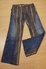 DOUCE ET CHAUDE Taille 36 pantalon femme jeans jean denim patchwork Mango