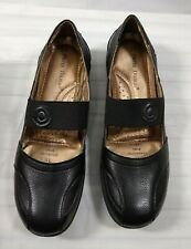 Womens Mary Jane Shoes Flat Stretch Strap Pierre Dumas Libby-13 Slip On Black