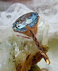7.5ct Natural Topaz Sterling Silver / Rose Gold Filigree Ring (Custom-Made)
