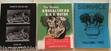 Harley Knucklehead UL Parts Book Service Manual & Shop Dope 2 Combo '36-'47