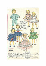 "3217 Vintage Chubby Mini-Doll Pattern - Size 10"" -- Year 1958"