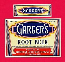 100 Old Garger's Root Beer Soda Label St Louis Bottling