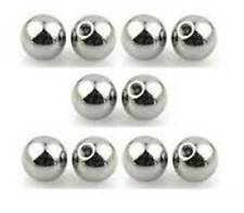 Pack of 10 - Spare Top Balls for Belly Bars & Tongue Bars - 5mm ( 1.6mm Thread )