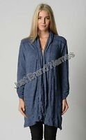 Line 7 Ladies Crushed Longline Cardigan sizes Small Medium Large XL 2XL