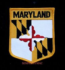 MARYLAND STATE FLAG EMBROIDERED HAT PATCH MD CREST USA STATE PIN UP BALTIMORE