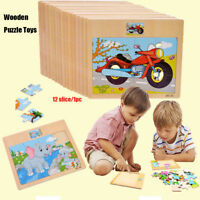 Wood Puzzle Wooden 3D Puzzle for Children Baby Cartoon Educational Toy Gifts