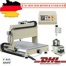 4 Axis Cnc 1500W 6040 Vfd Router Engraver 3D Engaving Drilling Cutter Machine