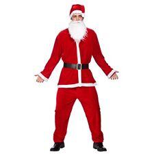 (o) Mens Deluxe Velour 5pc Santa Suit Christmas Costume Nativity Panto Fancy Dre