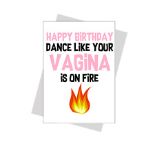 funny friend birthday card Dance humour for her female pun novelty bestfriend