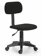Hodedah Armless Task Chair With Adjustable Height and Swivel Functionality Black