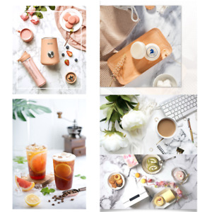 Marble Cement Flatlay Background Still Life Photography Backdrop for Instagram