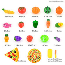 24PCS Cutting Fruit Vegetable Food Pretend Play Children Kid Educational Toy New