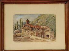 RURAL LANDSCAPE OF MALLORCA. WATERCOLOR ON PAPER. ANTONIO RIBAS OLIVER. 1899.
