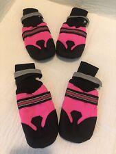 Yusamy Dog Shoes Pink Set of 4 Large