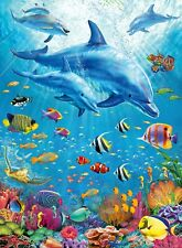 Ravensburger - 100 XXL BIG PIECE JIGSAW PUZZLE - Pod Of Dolphins Sealife