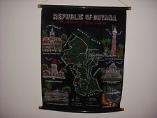 Cloth Guyana Wall Hanging Banner Map