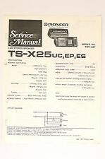 PIONEER TS-X25 Car Stereo Speaker Original Service-Manual/Schaltplan! o66