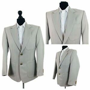 Vintage Mens Chums Jacket Blazer Chest 38 Smart Casual Light Beige Polyester P91