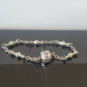 Pandora Moments Five Clip Station Silver Clip Charm Bracelet 15 cm 591704 Small