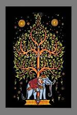 Indian Wall Decor Elephant Tree Of Life Print Tapestry Throw Cotton Boho Poster