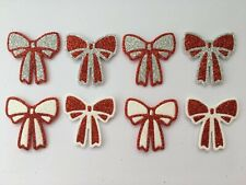 Christmas Red Bows Die Cuts Card Toppers  Embellishments Scrapbooking Crafting