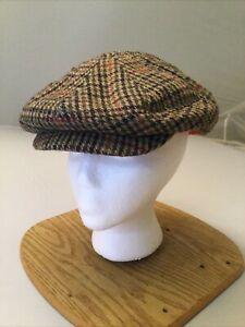 Cremieux Men's Ivy Cabbie Hat L/XL PATCHWORK Polyester Blend NEW