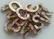 10 x Alphabet Letters toppers/embellishments/ cardmaking scrapbook shabby chic